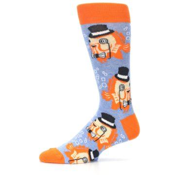 Image of Blue Orange So-fish-ticated Men's Dress Socks (side-2-11)