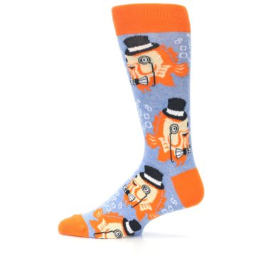 Image of Blue Orange So-fish-ticated Men's Dress Socks (side-2-12)