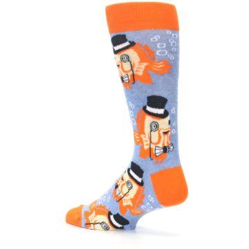 Image of Blue Orange So-fish-ticated Men's Dress Socks (side-2-back-14)