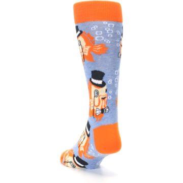 Image of Blue Orange So-fish-ticated Men's Dress Socks (side-2-back-16)