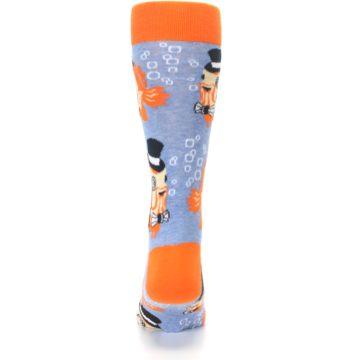 Image of Blue Orange So-fish-ticated Men's Dress Socks (back-18)