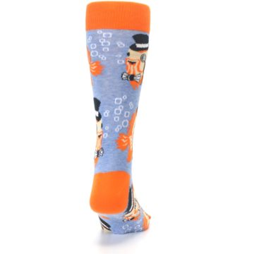 Image of Blue Orange So-fish-ticated Men's Dress Socks (back-19)