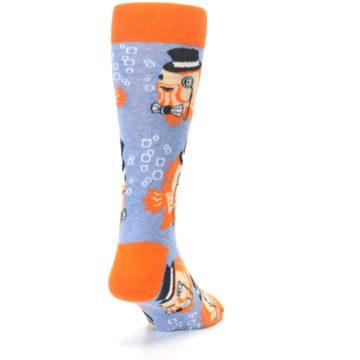 Image of Blue Orange So-fish-ticated Men's Dress Socks (side-1-back-20)