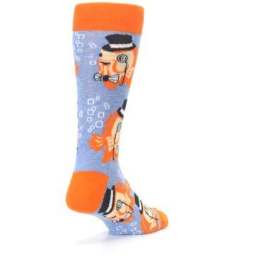 Image of Blue Orange So-fish-ticated Men's Dress Socks (side-1-back-21)