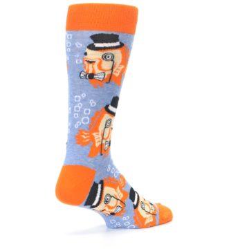 Image of Blue Orange So-fish-ticated Men's Dress Socks (side-1-back-22)