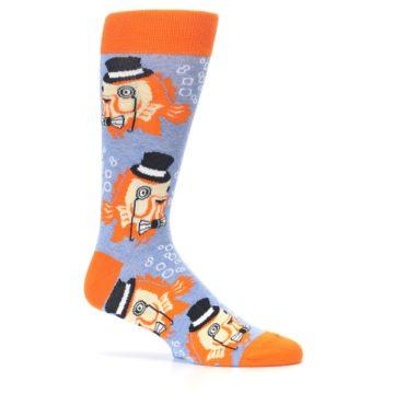 Image of Blue Orange So-fish-ticated Men's Dress Socks (side-1-25)