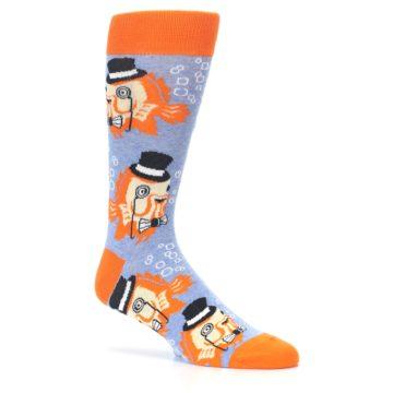 Image of Blue Orange So-fish-ticated Men's Dress Socks (side-1-26)