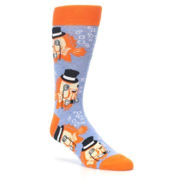 Image of Blue Orange So-fish-ticated Men's Dress Socks (side-1-27)