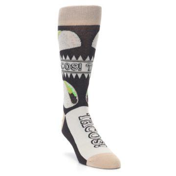Image of Brown Tan Soft Shell Tacos Men's Dress Socks (side-1-front-02)