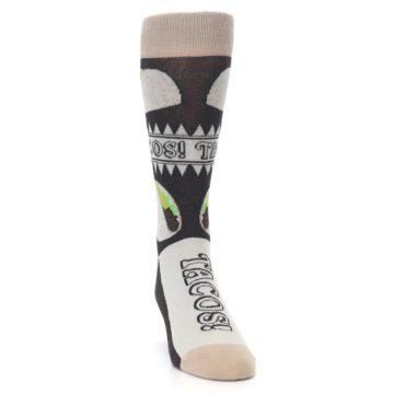 Image of Brown Tan Soft Shell Tacos Men's Dress Socks (side-1-front-03)