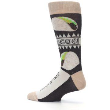 Image of Brown Tan Soft Shell Tacos Men's Dress Socks (side-2-13)