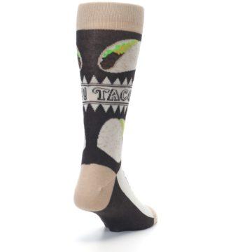 Image of Brown Tan Soft Shell Tacos Men's Dress Socks (side-1-back-20)
