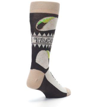 Image of Brown Tan Soft Shell Tacos Men's Dress Socks (side-1-back-21)
