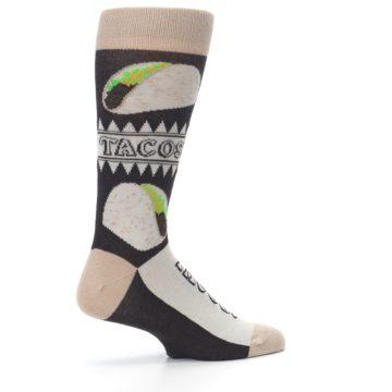 Image of Brown Tan Soft Shell Tacos Men's Dress Socks (side-1-23)