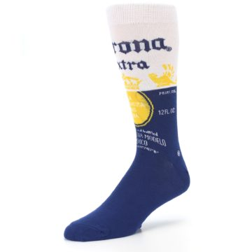 Image of Navy White Corona Beer Men's Dress Socks (side-2-09)