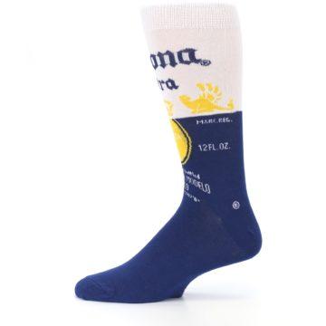 Image of Navy White Corona Beer Men's Dress Socks (side-2-12)