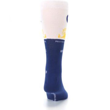 Image of Navy White Corona Beer Men's Dress Socks (back-19)