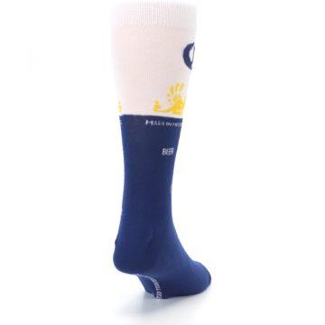 Image of Navy White Corona Beer Men's Dress Socks (side-1-back-20)