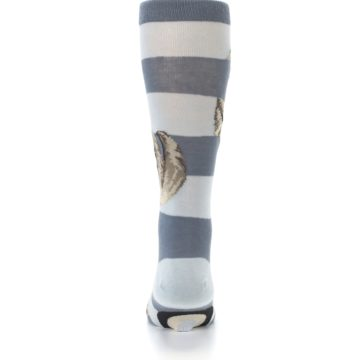 Image of Gray Sloth Stripe Men's Dress Socks (back-18)