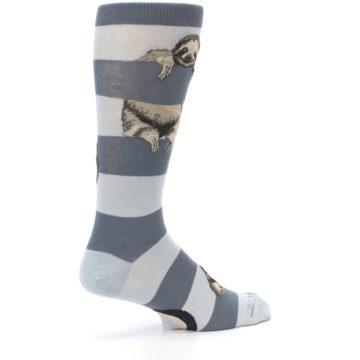 Image of Gray Sloth Stripe Men's Dress Socks (side-1-23)