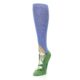 Image of Blue Green Lovely Llama Women's Knee High Socks (side-2-front-08)