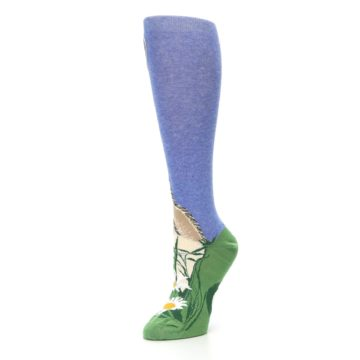 Image of Blue Green Lovely Llama Women's Knee High Socks (side-2-09)