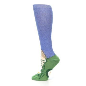 Image of Blue Green Lovely Llama Women's Knee High Socks (side-2-12)