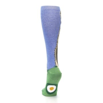 Image of Blue Green Lovely Llama Women's Knee High Socks (back-17)