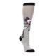 Gray Pink Unicycling Unicorn Women's Knee High Socks