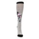 Image of Gray Pink Unicycling Unicorn Women's Knee High Socks (front-04)