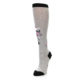 Image of Gray Pink Unicycling Unicorn Women's Knee High Socks (side-2-front-08)