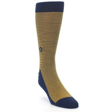 Image of Blue Yellow Donates Books Men's Dress Socks (side-1-front-02)