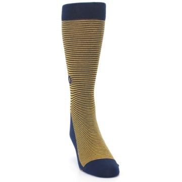 Image of Blue Yellow Donates Books Men's Dress Socks (side-1-front-03)
