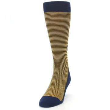 Image of Blue Yellow Donates Books Men's Dress Socks (side-2-front-06)
