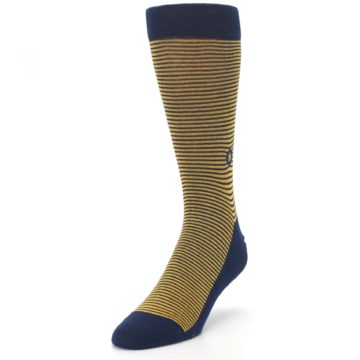 Image of Blue Yellow Donates Books Men's Dress Socks (side-2-front-07)