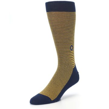 Image of Blue Yellow Donates Books Men's Dress Socks (side-2-front-08)