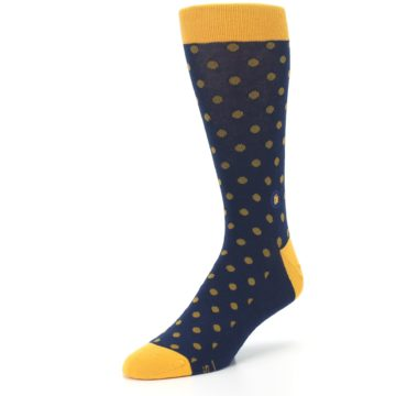 Image of Blue Yellow Dots Donates Books Men's Dress Socks (side-2-front-08)