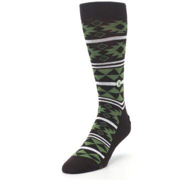 Image of Brown Green Plants Trees Men's Dress Socks (side-2-front-07)