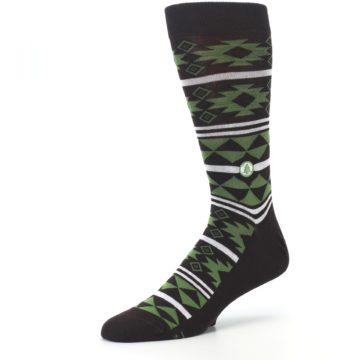 Image of Brown Green Plants Trees Men's Dress Socks (side-2-09)