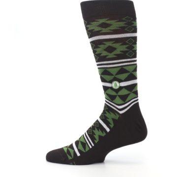 Image of Brown Green Plants Trees Men's Dress Socks (side-2-12)