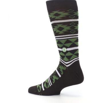 Image of Brown Green Plants Trees Men's Dress Socks (side-2-13)