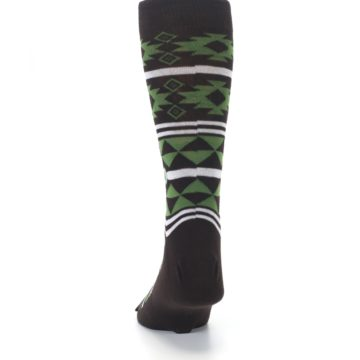 Image of Brown Green Plants Trees Men's Dress Socks (back-17)