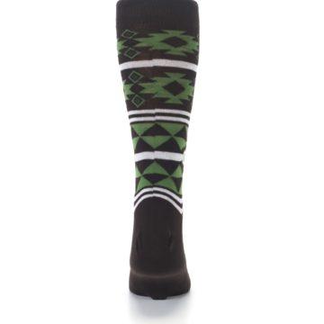 Image of Brown Green Plants Trees Men's Dress Socks (back-18)