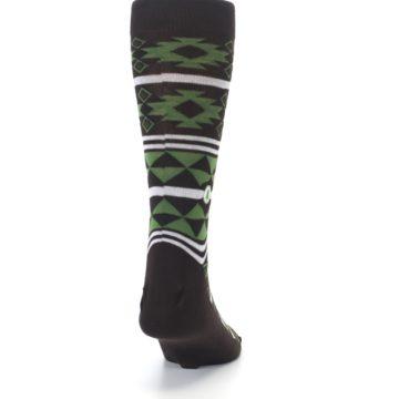 Image of Brown Green Plants Trees Men's Dress Socks (back-19)