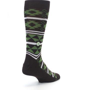 Image of Brown Green Plants Trees Men's Dress Socks (side-1-back-21)