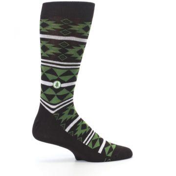 Image of Brown Green Plants Trees Men's Dress Socks (side-1-24)