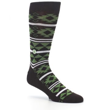 Image of Brown Green Plants Trees Men's Dress Socks (side-1-26)