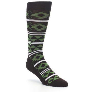 Image of Brown Green Plants Trees Men's Dress Socks (side-1-27)