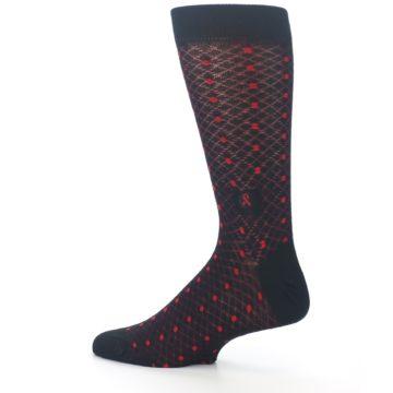 Image of Black Red Dots Fights HIV Men's Dress Socks (side-2-13)