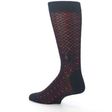 Image of Black Red Dots Fights HIV Men's Dress Socks (side-2-back-14)